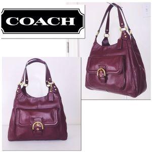 Coach Merlot Leather Campbell Hobo Shoulder Bag